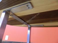 Diy Square Brushed Chrome Steel Modern Furniture