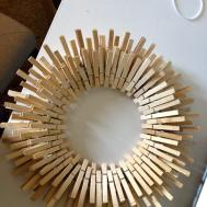 Diy Star Burst Laundry Room Clothespin Wreath Overthrow