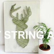 Diy String Art Stags Head Tumblr Room Decor