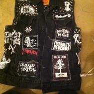Diy Studded Crust Punk Vest Thrasherclothesshop Etsy
