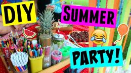 Diy Summer Party Easy Snacks Cheap Decorations More