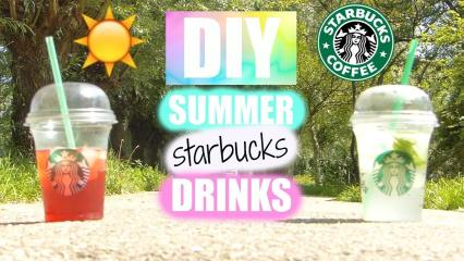 Diy Summer Starbucks Drinks Collab