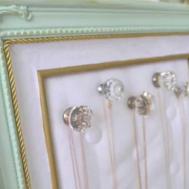 Diy Thrift Store Frame Jewelry Organizer