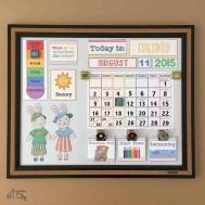 Diy Toddler Calender Magnet Board Lots Printables