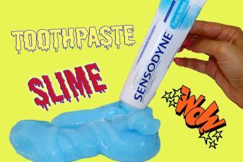 Diy Toothpaste Slime Make