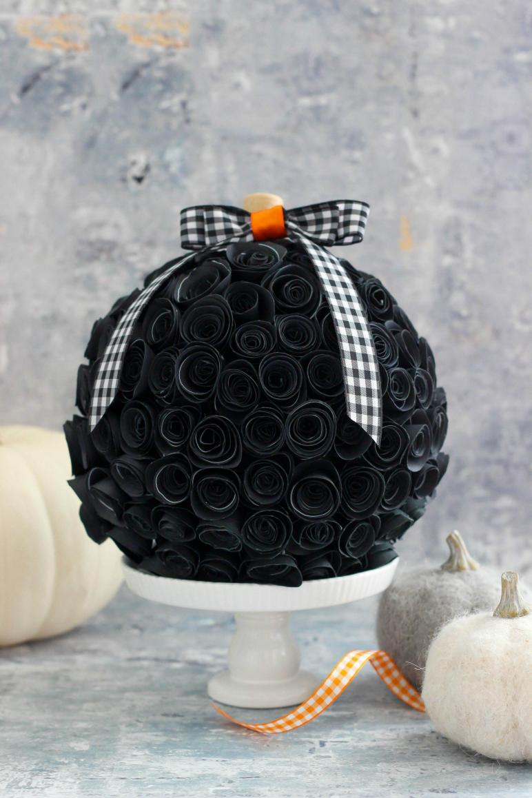 Diy Tutorial Halloween Rolled Paper Flower