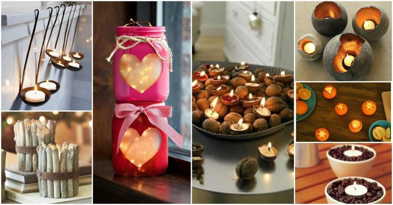 Diy Unique Candle Holder Ideas Warm Romantic Winter Nights