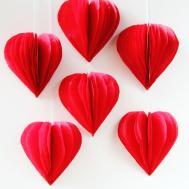Diy Valentine Day Tissue Paper Heart Decorations