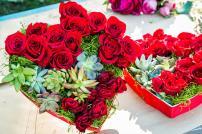 Diy Valentine Floral Arrangement Chocolate Box