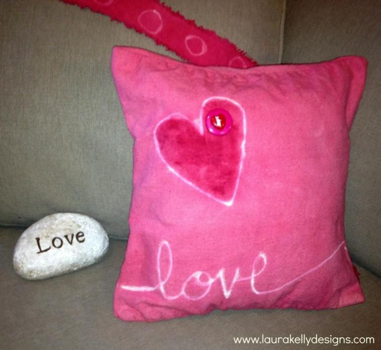Diy Valentines Day Throw Pillow