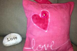 Diy Valentines Day Throw Pillow