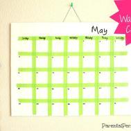 Diy Washi Tape Calendar Parental Perspective