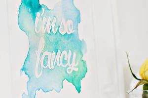 Diy Watercolor Wall Art Takuice