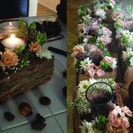 Diy Wedding Woodsy Flower Centerpiece Sarah Blog