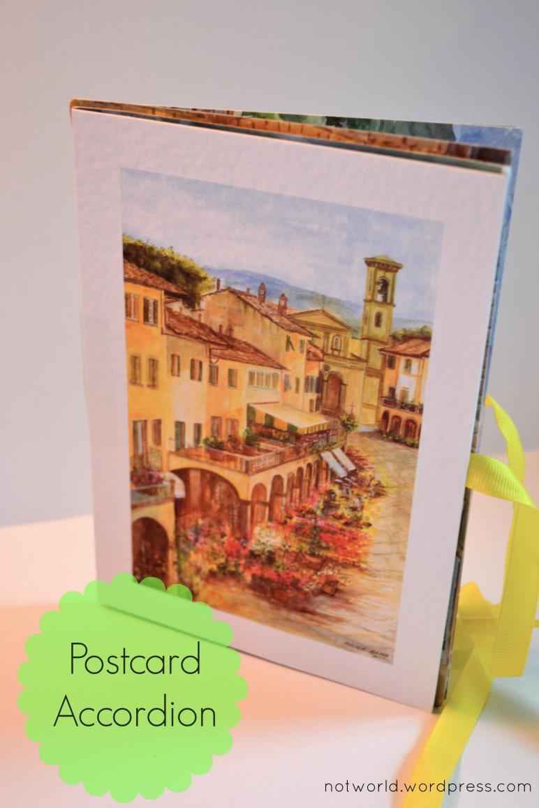 Diy Week Postcard Accordion