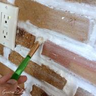 Diy Whitewashed Brick Backsplash