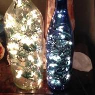 Diy Wine Bottle Filled Lights Aka
