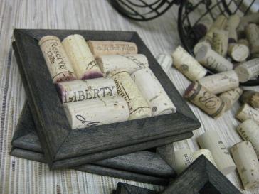 Diy Wine Cork Coasters Ebony Set Made Reclaimed