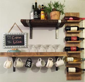 Diy Wine Shelf Homemade Rack Simple