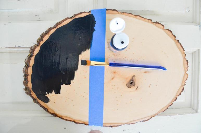 Diy Wood Slice Serving Tray Project Nursery