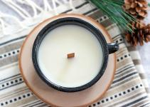 Diy Wood Wick Campfire Mug Candle