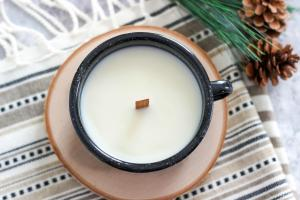 Diy Wood Wick Campfire Mug Candle