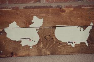 Diy Wooden Pallet Rustic Map Wall Art