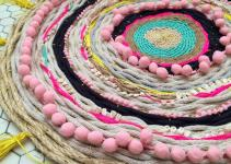 Diy Woven Pom Rope Rug Red Lipstick French Toast