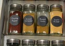 Diy Your Life Faux Chalkboard Label Spice Jars