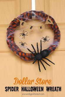 Dollar Store Spider Halloween Wreath Ideas