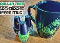 Dollar Tree Hydro Dipped Coffee Mug Diy Cly