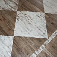 Down Earth Style Paint Rug Wood Floors