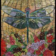 Dragonfly Art Nouveau Print Home Decor Paper