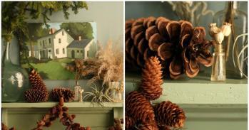 Dream State Design Sponge Diy Christmas Pinecone Garland