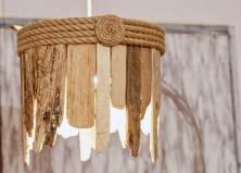 Driftwood Hanging Light Chandelier Table Lamp Coastal Chic