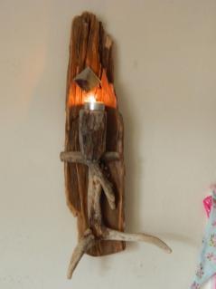 Driftwood Sconce Candle Holder Tea Lighter Loveupcycleduk