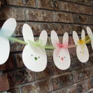 Easter Bunny Banner Garland Nursery Room Decor