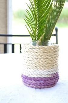Easy Diy Nautical Rope Vases Sundown Style Company