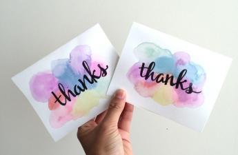 Easy Minute Diy Watercolor Greeting Card Recess