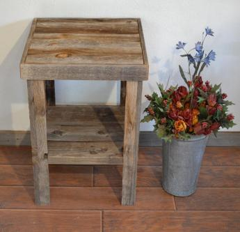 Eco Friendly Barnwood Wood End Table Night Stand