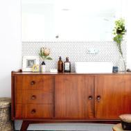Elegant Badezimmer Fliesen Mit Spiegelschrank