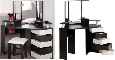 Elegant Corner Dressing Table Design Ideas Small