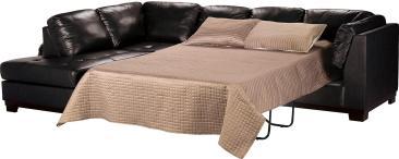 Elegant Real Leather Sofa Bed Regarding House