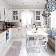 Elegant White Shabby Chic Kitchen Wall Shelves Homedecort