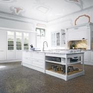 Elite Traditional Kitchen Interior White Doors