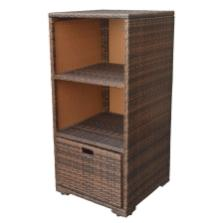 Espresso Wicker Rattan Storage Cube Towel Dish