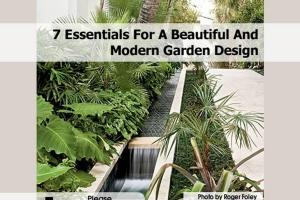 Essentials Beautiful Modern Garden Design