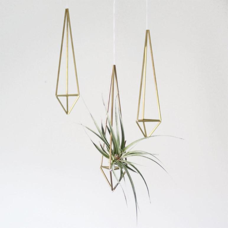 Etsyfinds Brass Himmeli Prism Hanging Modern