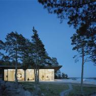 Evening Lights Stunning Lake House Sweden