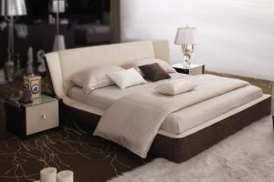 Exotic Wood High End Platform Bed Easy Clean